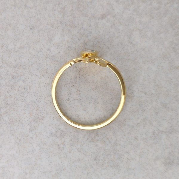 """18ct Gold and Old Cut Diamond """"Bombora"""" Ring -- An old cut diamond is bezel set in the heart of waves of gold that make up this """"Bombora"""" ring. Handmade by David Wilson, can be made with a variety of Gemstones. Diamond measures 3.5mm in Diameter. Finger Size: L ½. David Wilson Jewellery Shop"""